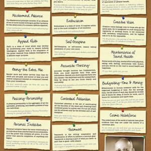 17 principles of success 24x36 poster