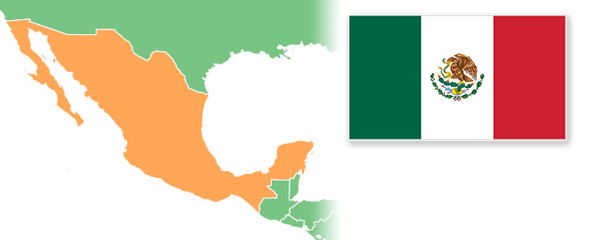 Mexico Map Flag Napoleon Hill Foundation