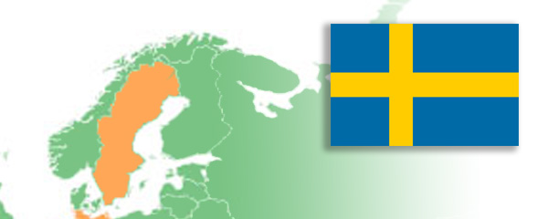 Image of Sweden map and flag