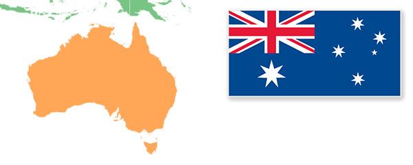 Australia Map And Flag.Australia Map Flag Napoleon Hill Foundation