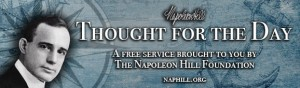 Napoleon Hill Thought for the Day banner